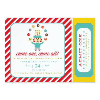 CIRCUS CARNIVAL BIRTHDAY PARTY INVITATION invite
