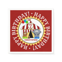 Circus Carnival Birthday Party Paper Napkin