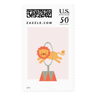 CIRCUS CARNIVAL BIRTHDAY PARTY postage stamp