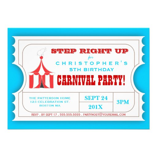 Personalized Ticket party Invitations – Ticket Party Invitation Template