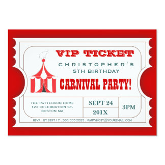 Circus Party Invitations & Announcements   Zazzle