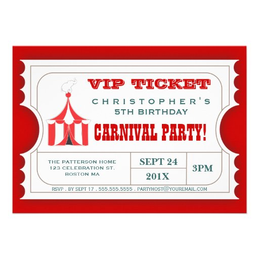 Pin Carnival Ticket Invitation Template on Pinterest