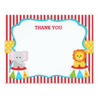 Circus Carnival Birthday Thank You Note Cards