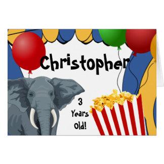Circus Carnival Custom Birthday Greeting Card