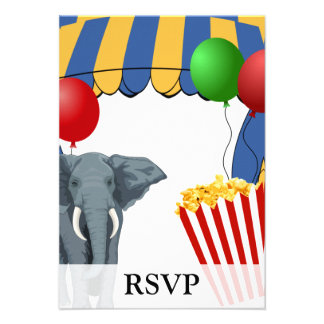 Circus Carnival Custom Birthday Personalized Announcement