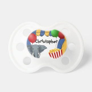 Circus Carnival Custom Birthday Pacifier
