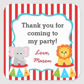 Circus Carnival Party Favor Stickers