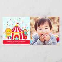 Circus Carnival Personalized Thank You