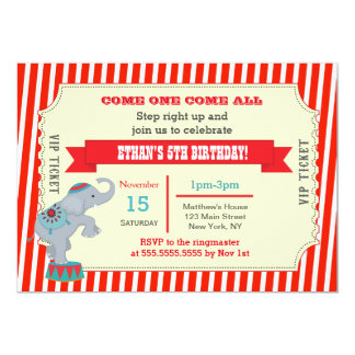 circus party invitations  announcements  zazzle, Party invitations