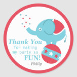 Circus, Carnvial Themed Birthday Party Decoration Stickers