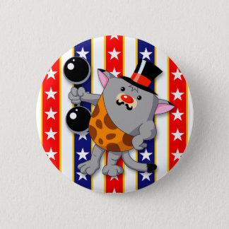 Circus Cat Pinback Button