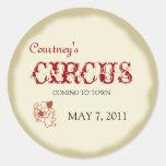 Circus Childrens Birthday Sticker