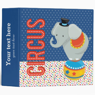 Circus * choose background color 3 ring binder