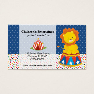 Circus * choose background color business card