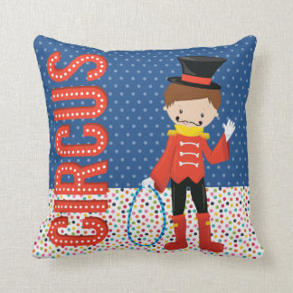 Circus * choose background color throw pillow