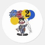 Circus Clown 2nd Birthday Classic Round Sticker