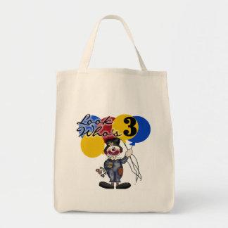 Circus Clown 3rd Birthday Tshirts and Gifts Tote Bag