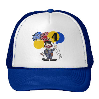 Circus Clown 4th Birthday Tshirts and Gifts Trucker Hat