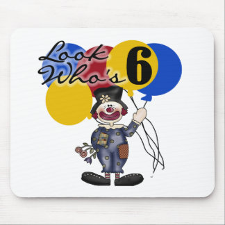 Circus Clown 6th Birthday Mouse Pad
