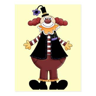 Circus Clown Act Postcard