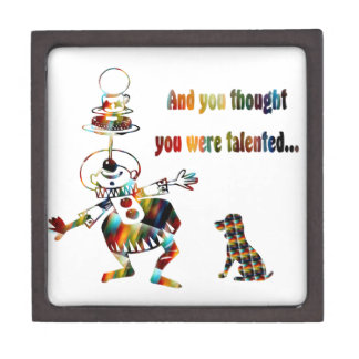 Circus Clown and His Dog Jewelry Box