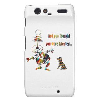 Circus Clown and His Dog Motorola Droid RAZR Case