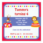 Circus Clown Birthday Party Announcements