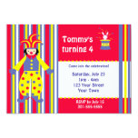 Circus Clown Birthday Party Personalized Invitations