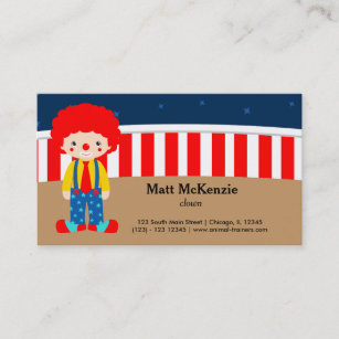 Circus clown business cards templates zazzle circus clown business card colourmoves