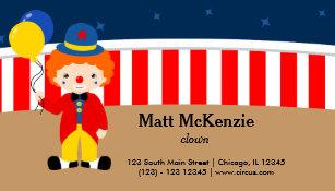 Circus clown business cards zazzle circus clown business card colourmoves