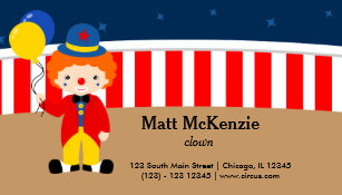 Circus clown business cards templates zazzle circus clown business card colourmoves