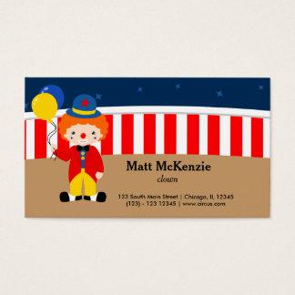 Circus  Clown Business Card