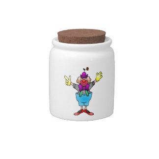Circus Clown Candy Jar