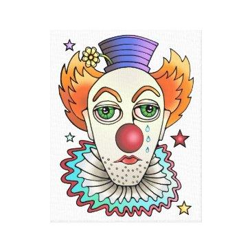 Halloween Themed Circus Clown Canvas Print