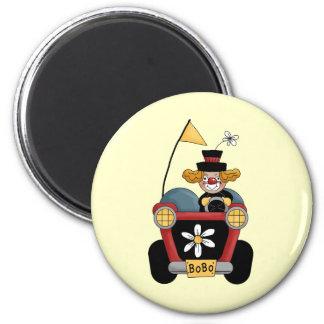 Circus Clown Car 2 Inch Round Magnet