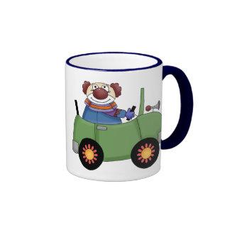 Circus Clown Car Ringer Mug