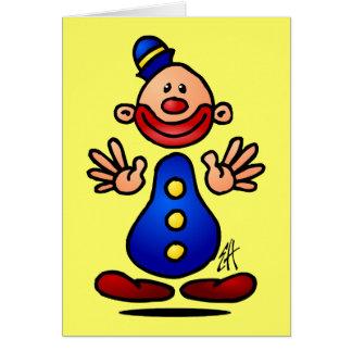 Circus Clown Card