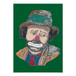 Circus Clown Emmett Kelley Portrait Poster