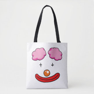 circus clown face cartoon tote bag