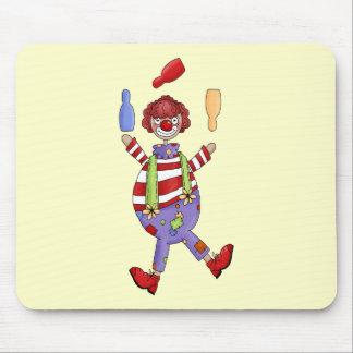 Circus Clown Juggling Mouse Pad