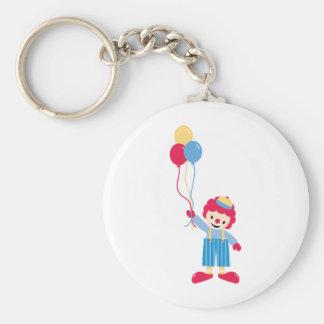 Circus clown keychain