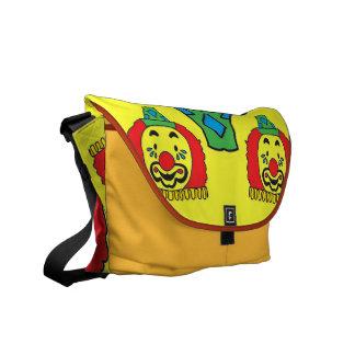 circus clown messenger bag