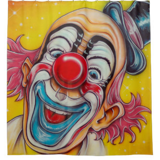 Circus Clown Shower Curtain