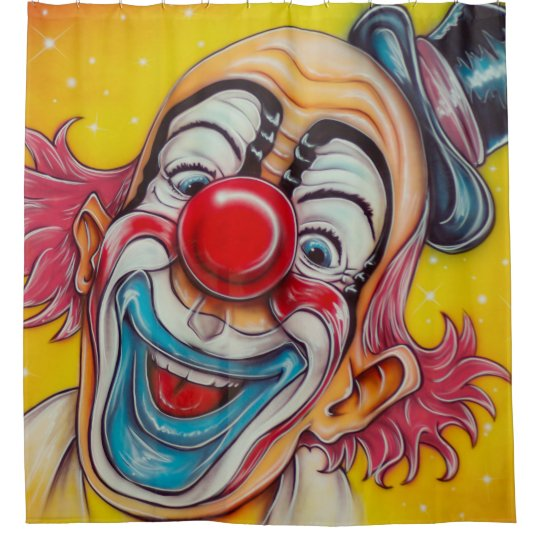 Circus Clown Shower Curtain