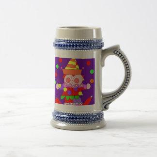 circus clown stein mug
