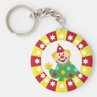 Circus Clown with Stars Keychain