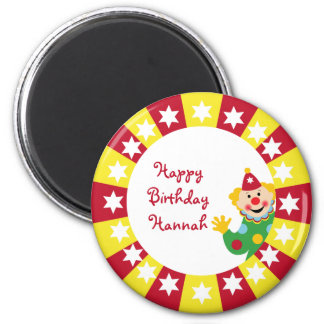 Circus Clown with Stars Ornament Magnet