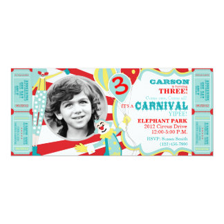 Circus Clowns Birthday Invitation T-AQRD