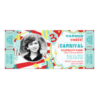 Circus Clowns Birthday Invitation T-AQRD