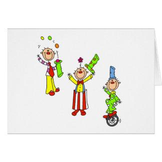 Circus Clowns Greeting Card